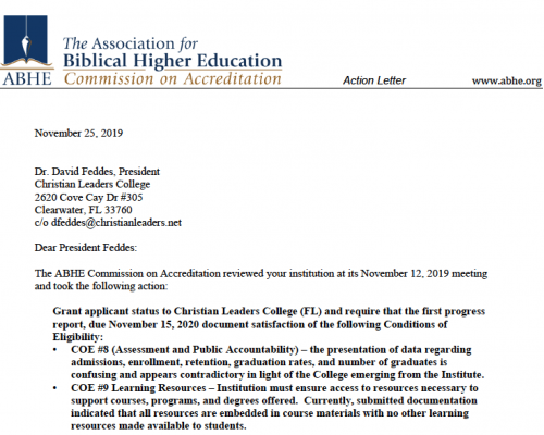 Accreditation Letter
